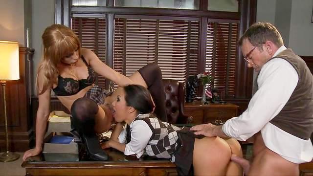 Asa Akira and Kirsten Price is fucking with their boyfriend