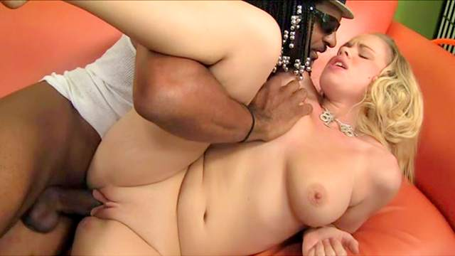Chubby blonde Britney Young and black dude Jack Napier