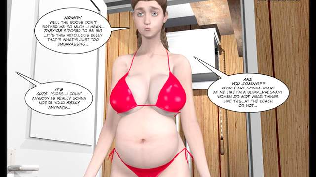 3D Porn, HD, Pregnant